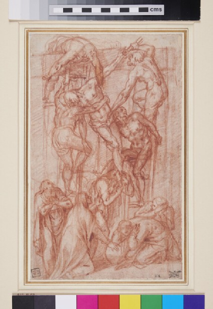 Recto: The Descent from the Cross