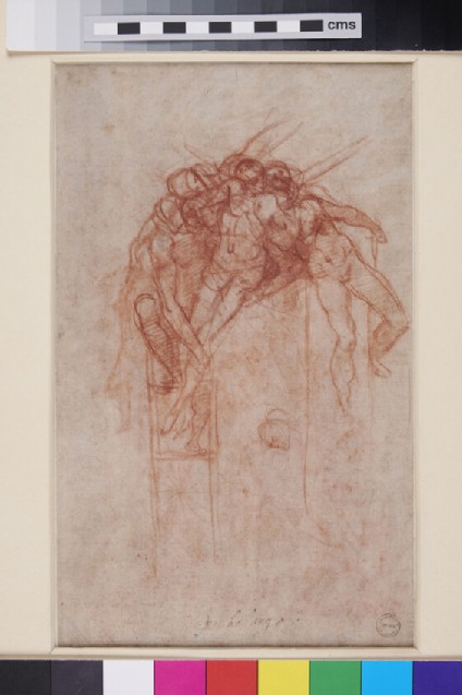 Recto: The Descent from the Cross<br />Verso: Separate Study of Christ descending from the Cross