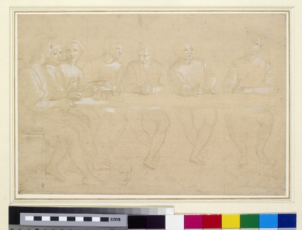 Recto: Part Study for a Composition of the Last Supper<br />Verso: a female head