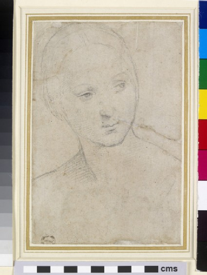 Recto: Study of the Head of a young Woman