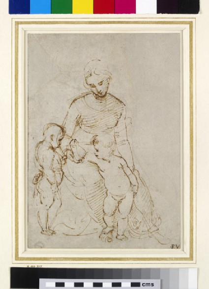 Recto: The Virgin and Child with St John (The Madonna del Cardellino)