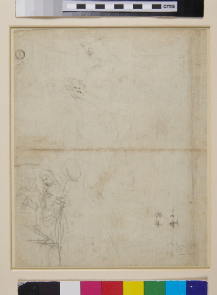 Recto: Sheet of Studies of Figures, Hands and a Lion's Head