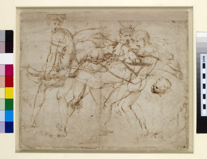 Recto: The Death of Meleager or the Death of Adonis <br />Verso: Adam tempted