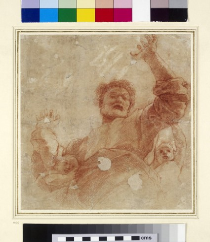 Recto: Study for a Figure of the Almighty<br />Verso: Study for a Figure of the Almighty
