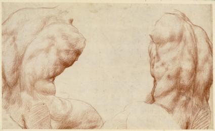 Recto: Belvedere Torso of Hercules<br />Verso: Study of a reclining River-god
