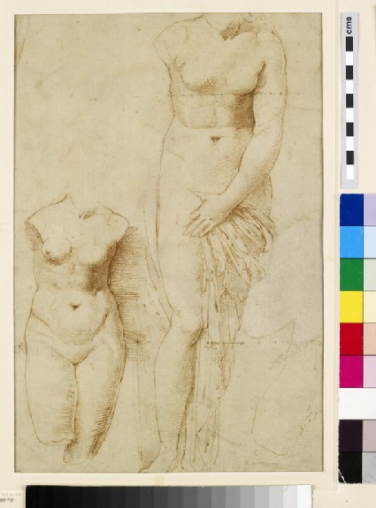 Recto: Two Figures of Aphrodite
