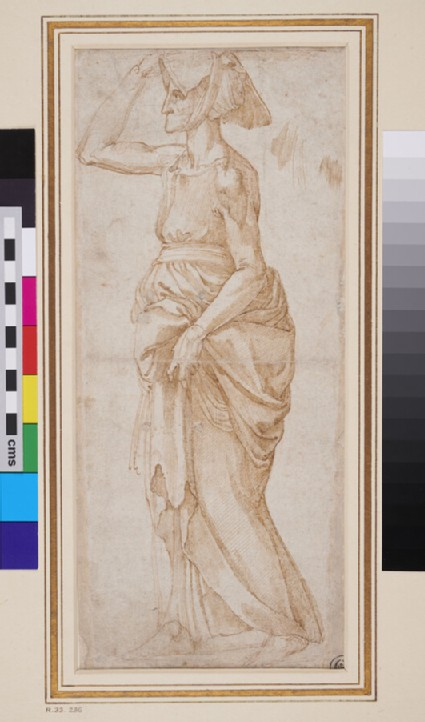 Recto: Draped Figure of an old Woman, after Rosso