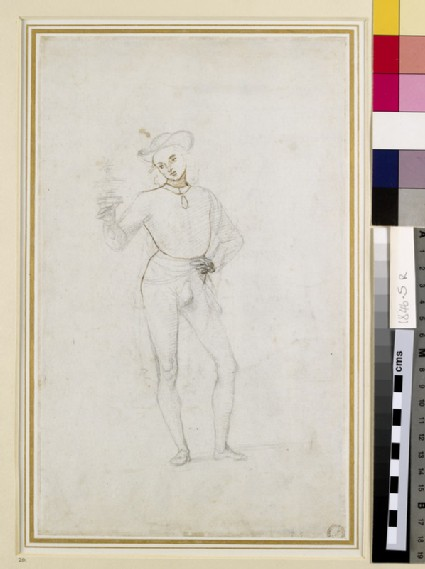 Recto: A Study for a Figure in an Adoration of the Magi<br />Verso: A Study for a Figure in an Adoration of the Magi