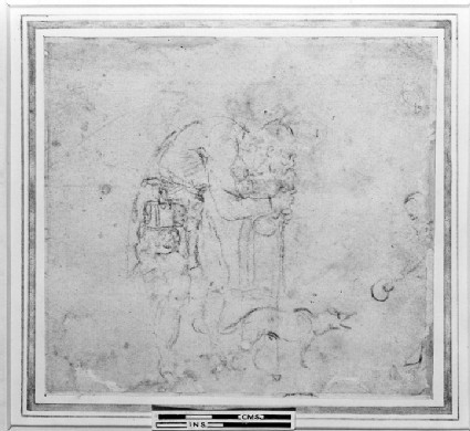 Recto: Study of a blind Beggar