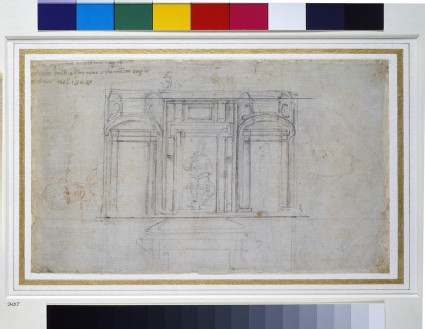 Recto: Design for one of the Medici Tombs