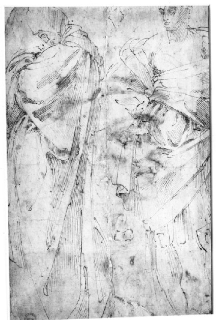 Recto: Head of a Man in Middle Age
