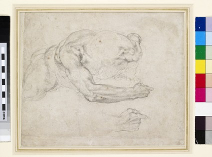 Recto: Study of a Man rising from the Ground