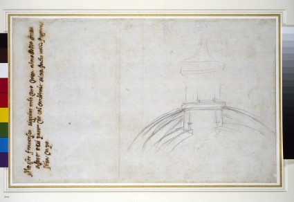 Recto: Sketch showing the Join of the Lantern and Cupola, and other Studies for St Peter's
