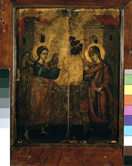 Recto: Icon of The Annunciation<br />Verso: Icon of Four Evangelists