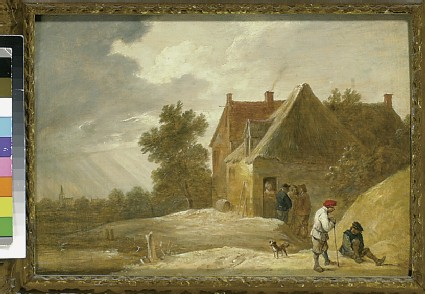 Landscape with a Farmhouse and Figures on the Bank of a River