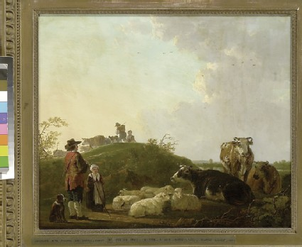 Landscape with Figures, Cattle and Sheep