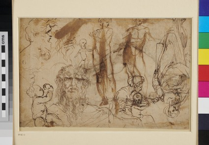 Recto: A male Nude