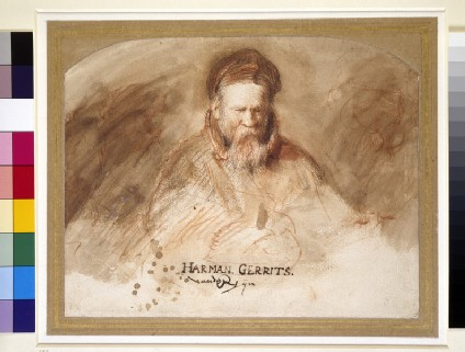 Recto: Portrait of an Old Man (Rembrandt's father)