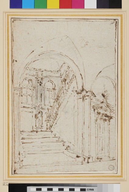 The Vestibule and Staircase of a Palace