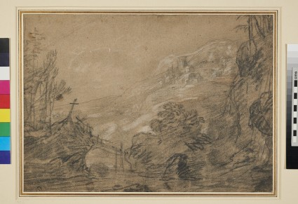 Mountain Landscape with Bridge
