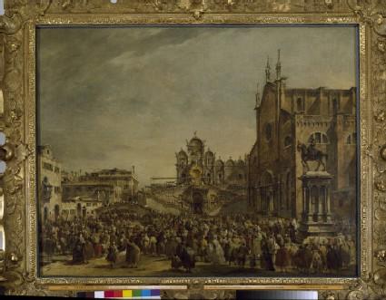 Pope Pius VI blessing the Crowd at Campo SS Giovanni e Paolo, Venice