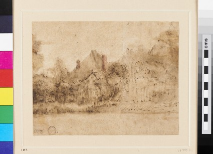 A Farmhouse near a River