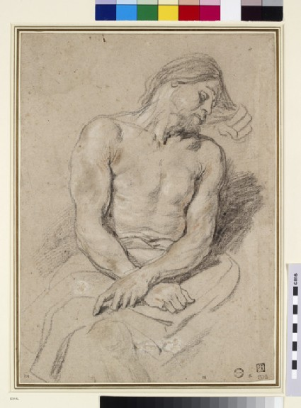 Recto: Christ mocked<br />Verso: Study of a right Arm and hand grasping a Staff with a faint Sketch of another Hand