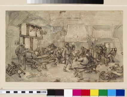 Interior of an Alehouse with numerous Figures
