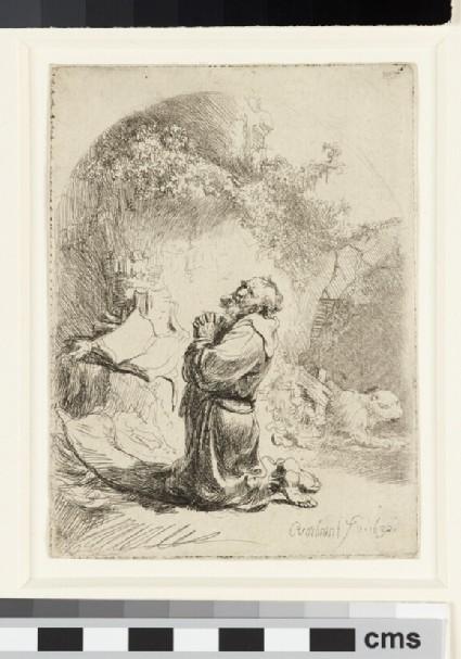 Saint Jerome praying: arched