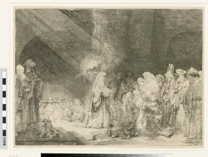 The Presentation in the Temple: oblong print (Luke 2: 22-40)
