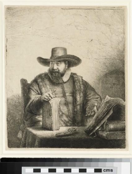 Portrait of Cornelis Claesz. Anslo, Preacher