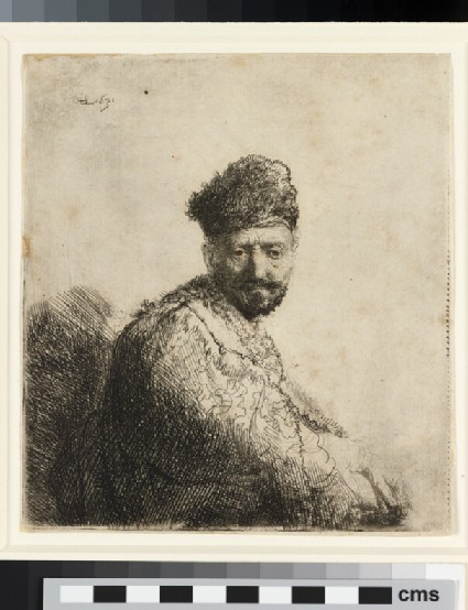 Bearded Man, in furred oriental Cap and Robe: The Artist's Father