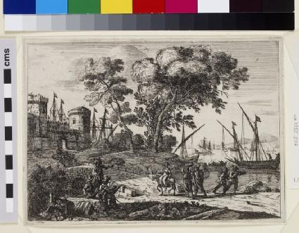 Le Dessinateur (Coast scene with an artist)