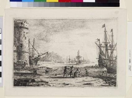 Le Port de mer à la grosse tour (Harbour with a large tower)