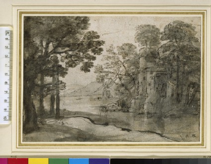 A watermill among trees