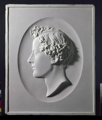 Profile portrait of John Everett Millais