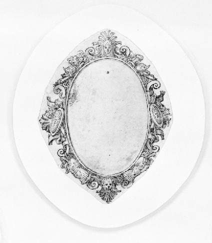 Design for a badge or dress ornament: A design for an oval jewel