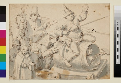 Composition of seven Figures symbolizing Carnival