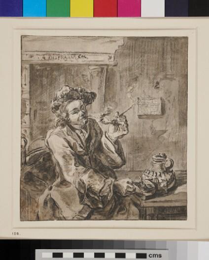 Man Smoking in an Interior