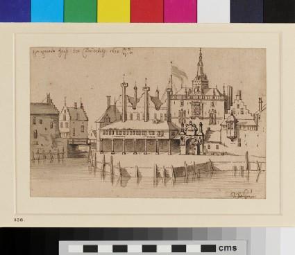 View of the Groothoofdspoort at Dordrecht