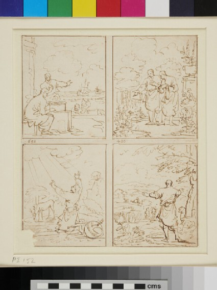 A Page of Sketches for devotional Book Illustrations