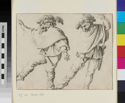 Two Mummers dancing