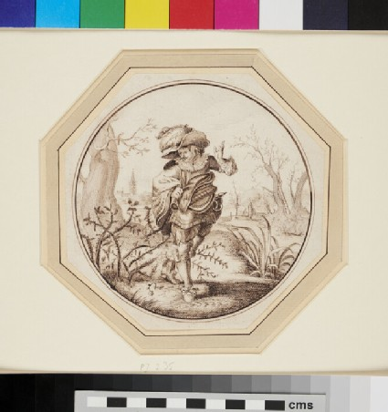 A Cavalier in a Landscape, his Cloak caught in a Bramble Bush