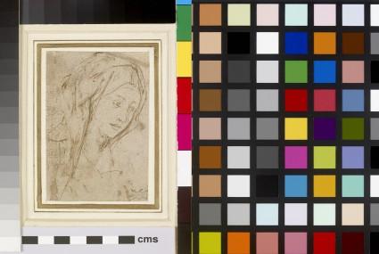 Recto: Head of a Woman<br />Verso: Slight ink Studies