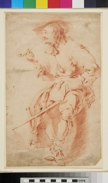 Seated Man smoking a Pipe