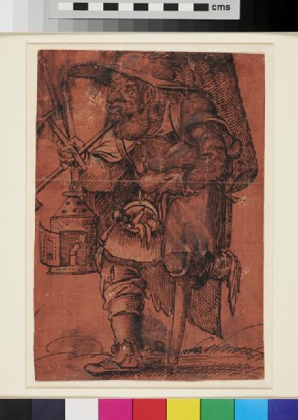 Grotesque Figure of a Man with a wooden Leg