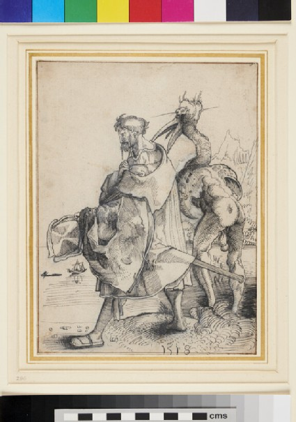 A Landsknecht and a monstrous Figure (The Homo-platoris)