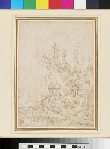 Recto: Landscape <br />Verso: Study of a Figure