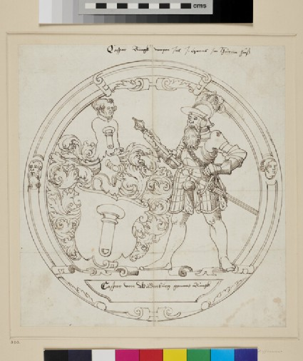 Design for a Roundel of stained Glass