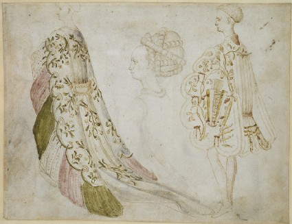 Recto: Studies of Costume  